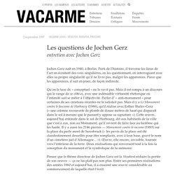 Les questions de Jochen Gerz