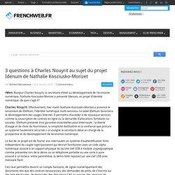 3 questions à Charles Nouyrit au sujet du projet Idenum de Natha