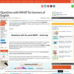 Questions with WHAT for learners of English