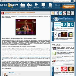 Projet de loi Hadopi : trois questions à Martine Billard - PC IN