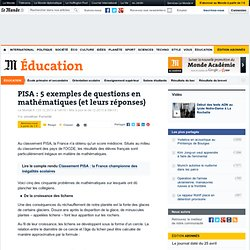 PISA : 5 exemples de questions en mathématiques (et leurs réponses)