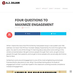 Four Questions to Maximize Engagement