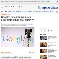 Google's data mining raises questions of national security