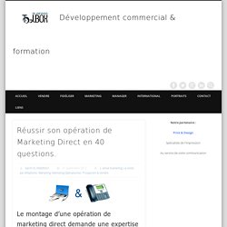 40 questions à se poser pour une opération de marketing direct réussie