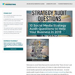 Social Media Audit Neil Scaffer