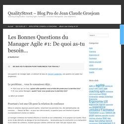Les Bonnes Questions du Manager Agile #1: De quoi as-tu besoin...