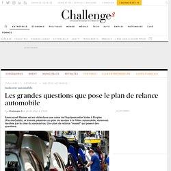 Les questions que pose le plan de relance automobile
