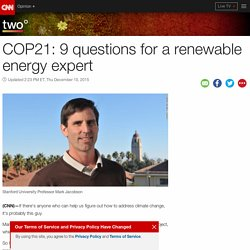 COP21: 9 questions for a renewable energy expert
