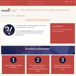 enssib - Service Questions? Réponses!