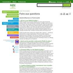 EUFIC - Questions/réponses sur l'huile de palme