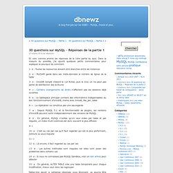 30 questions sur MySQL – Réponses de la partie 1 « dbnewz
