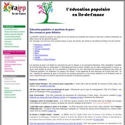 Questions de genre : Des ressources pour débattre - Site internet de la CRAJEP Île-de-France