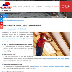 Questions to Ask Roofing Contractors When Hiring