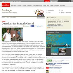 Jugaad: Questions for Santosh Ostwal