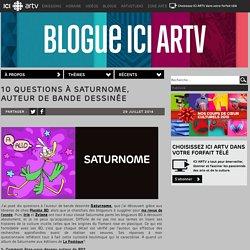 10 questions à Saturnome, auteur de Bande dessinée