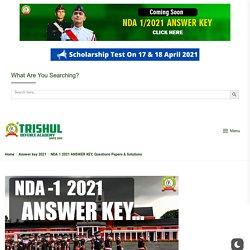 NDA 1 2021 ANSWER KEY