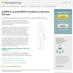 CAHPS and HCAHPS Survey Questions and Templates