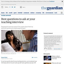 Best questions to ask at your teaching interview