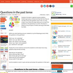 Questions in the past tense - Games to learn English