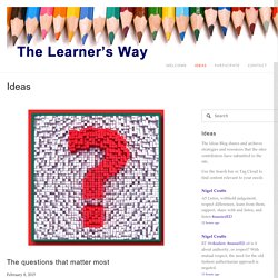 The questions that matter most — The Learner's Way