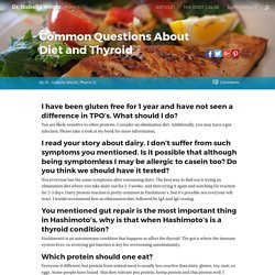 Common Questions About Diet and Thyroid