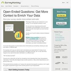 Open-Ended Questions: Your Ticket to Qualitative Data