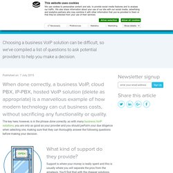 4 questions to ask your VoIP provider