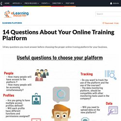 14 Questions About Your Online Training Platform