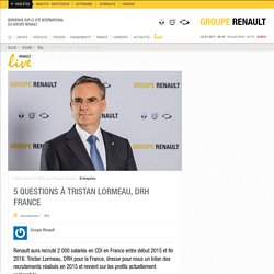 5 questions à Tristan Lormeau, DRH France