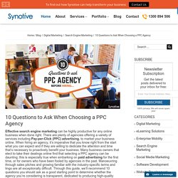 10 Questions to Ask When Choosing a Best PPC Agency