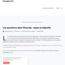 Les questions dans Wooclap : types et objectifs