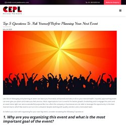 Top 5 Questions To Ask Yourself Before Planning Your Next Event - Countrywide