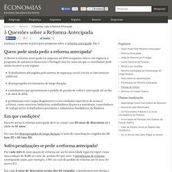 5 Questões sobre a Reforma Antecipada - Economias