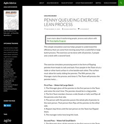 Penny Queueing Exercise - Lean Process (Agile Advice)