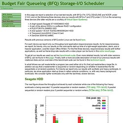 Budget Fair Queueing (BFQ) Storage-I/O Scheduler