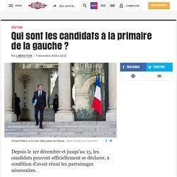 Qui sont les candidats à la primaire de la gauche ?