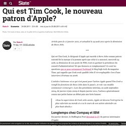 Qui est Tim Cook, le nouveau patron d'Apple?