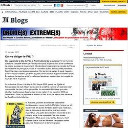 Qui va diriger le FNJ ? - Droite(s) extrême(s) - Blog LeMonde.fr