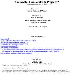 Qui sont les douze califes du Prophète?