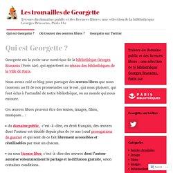 Qui est Georgette ? – Les trouvailles de Georgette