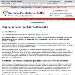 logiciel privateur (de liberté) « service se substituant au logiciel », ou SaaSS