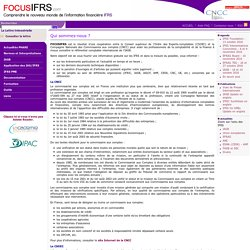 Qui sommes-nous ? / Footer / Focus IFRS
