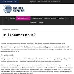 L'Institut Sapiens - Qui sommes nous?