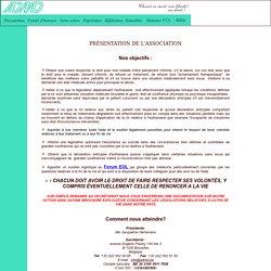 ADMD Association pour le Droit de Mourir dans la Dignité