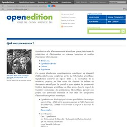 About OpenEdition
