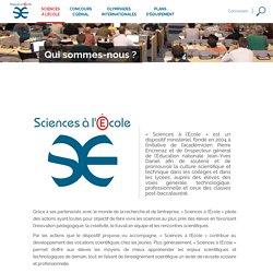 Qui sommes-nous ? – Sciences à l'Ecole
