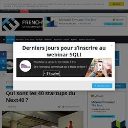 Qui sont les 40 startups du Next40 ?