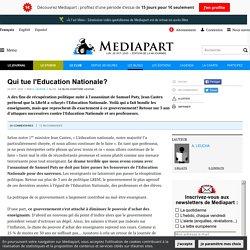 Qui tue l'Education Nationale?