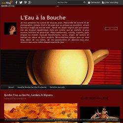 Quiche Fine au Basilic, Lardons & Oignons