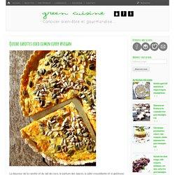 Quiche carottes coco cumin curry #vegan – Green Cuisine